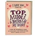 Em + Friends - EMM Top Middle Bottom Love Card