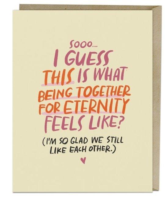 Em + Friends - EMM Being Together for Eternity Love Card