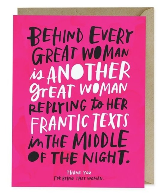 Em + Friends - EMM Every Great Woman Thank You Card