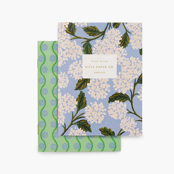 Rifle Paper Co - RP Rifle Paper Co - Pair of Hydrangea Pocket Notebook, Blank