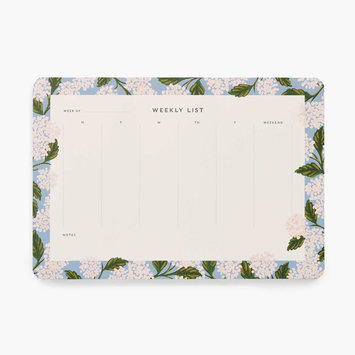Rifle Paper Co - RP Rifle Paper Co - Hydrangea Weekly Desk Notepad