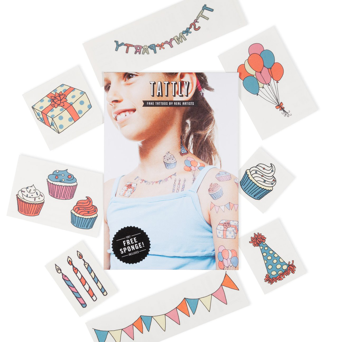 Tattly - TA Tattly Temporary Tattoos - Party Set