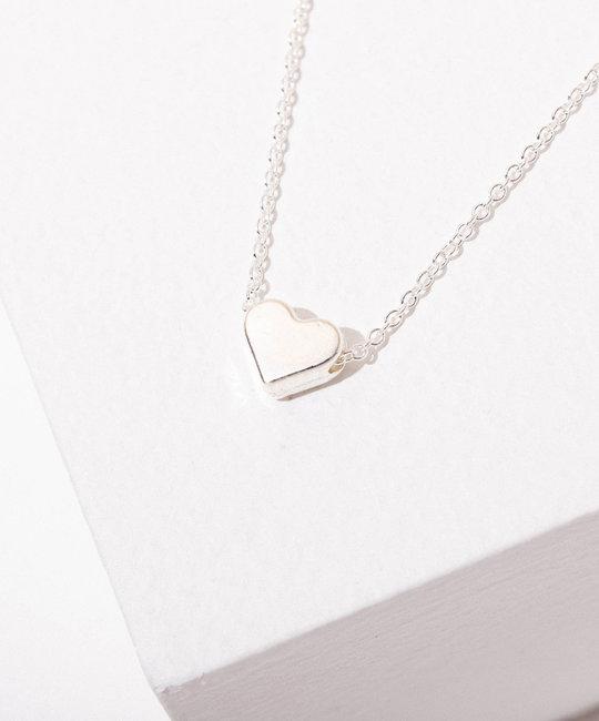 Larissa Loden Jewelry - LLJ Heart Necklace, Rhodium plated