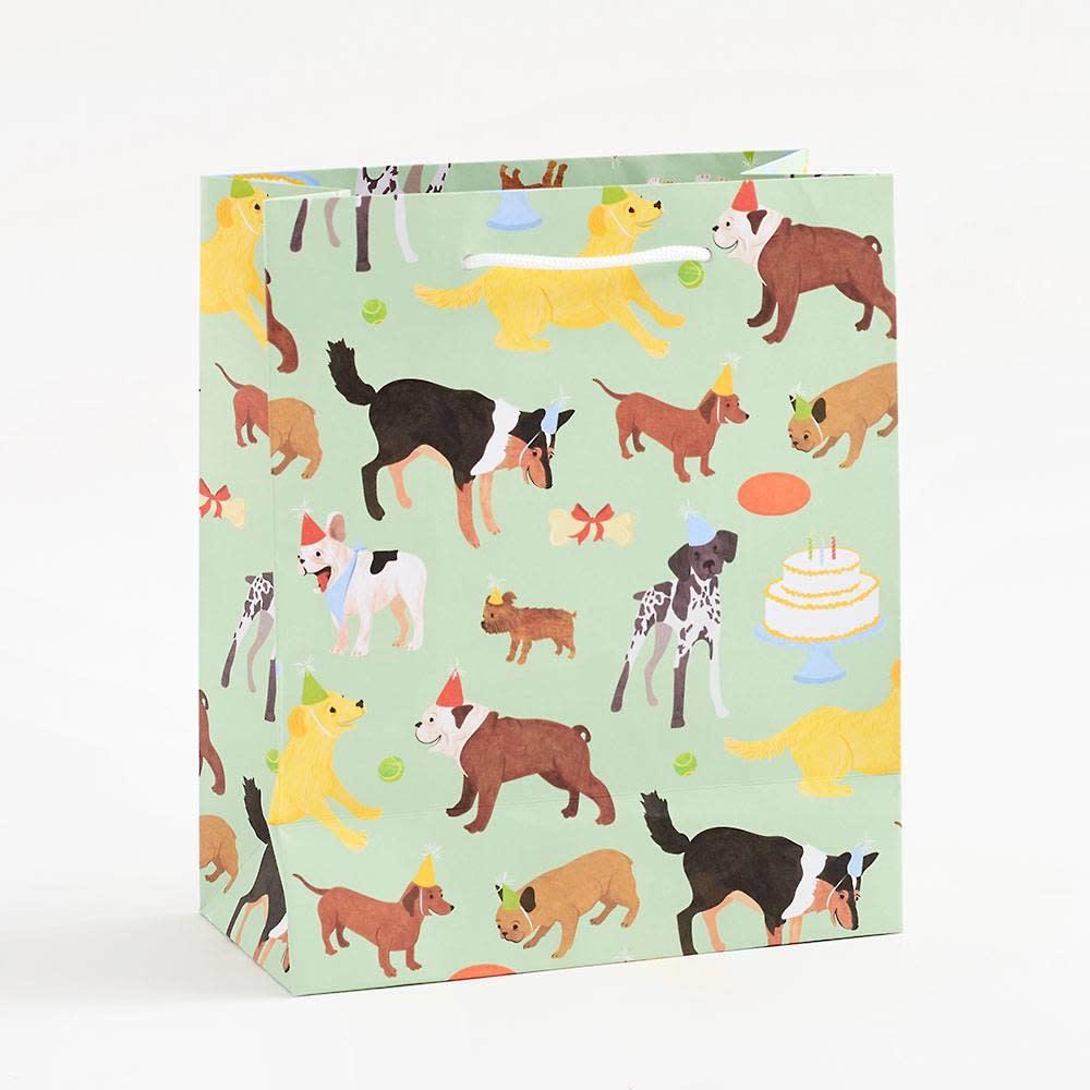 Waste Not Paper - WN Birthday Dog Gift Bag, Medium