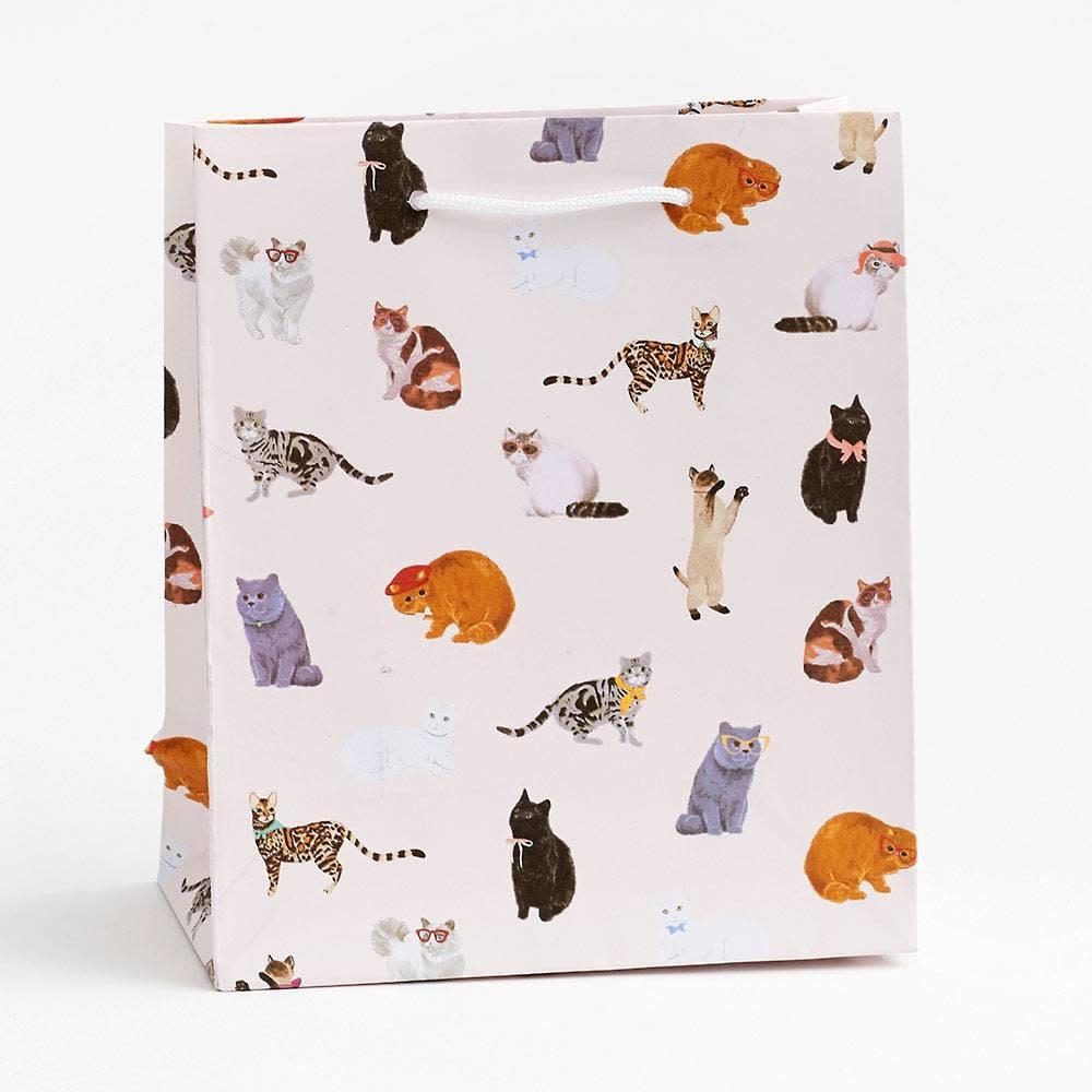 Waste Not Paper - WN Sophisticats Gift Bag, Medium