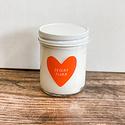 Gus and Ruby Letterpress - GR GR CALA -  Desert Flora Heart Candle