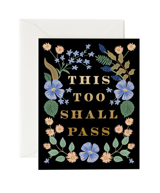 Rifle Paper Co - RP Rifle Paper Co - This Too Shall Pass