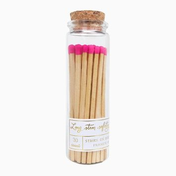 Frankie & Claude - FCL Hot Pink Long Stem Match Stick Jar
