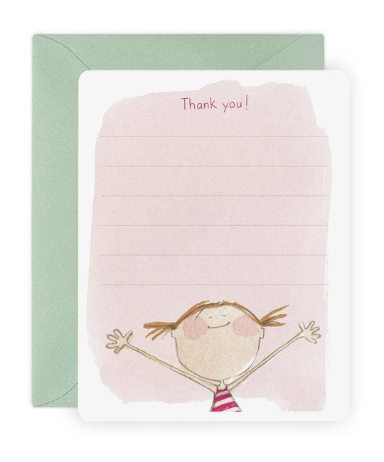 E. Frances Paper Studio - EF Isla Thank You Flat Note, Set of 6