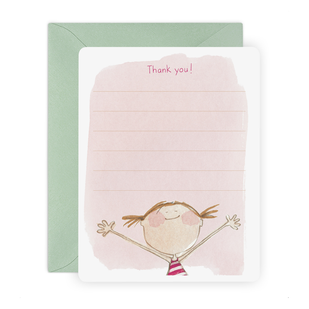 E. Frances Paper Studio - EF Isla Thank You Flat Note, Set of 6