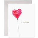 E. Frances Paper Studio - EF EFGCVD0005 - Red Balloon Valentine