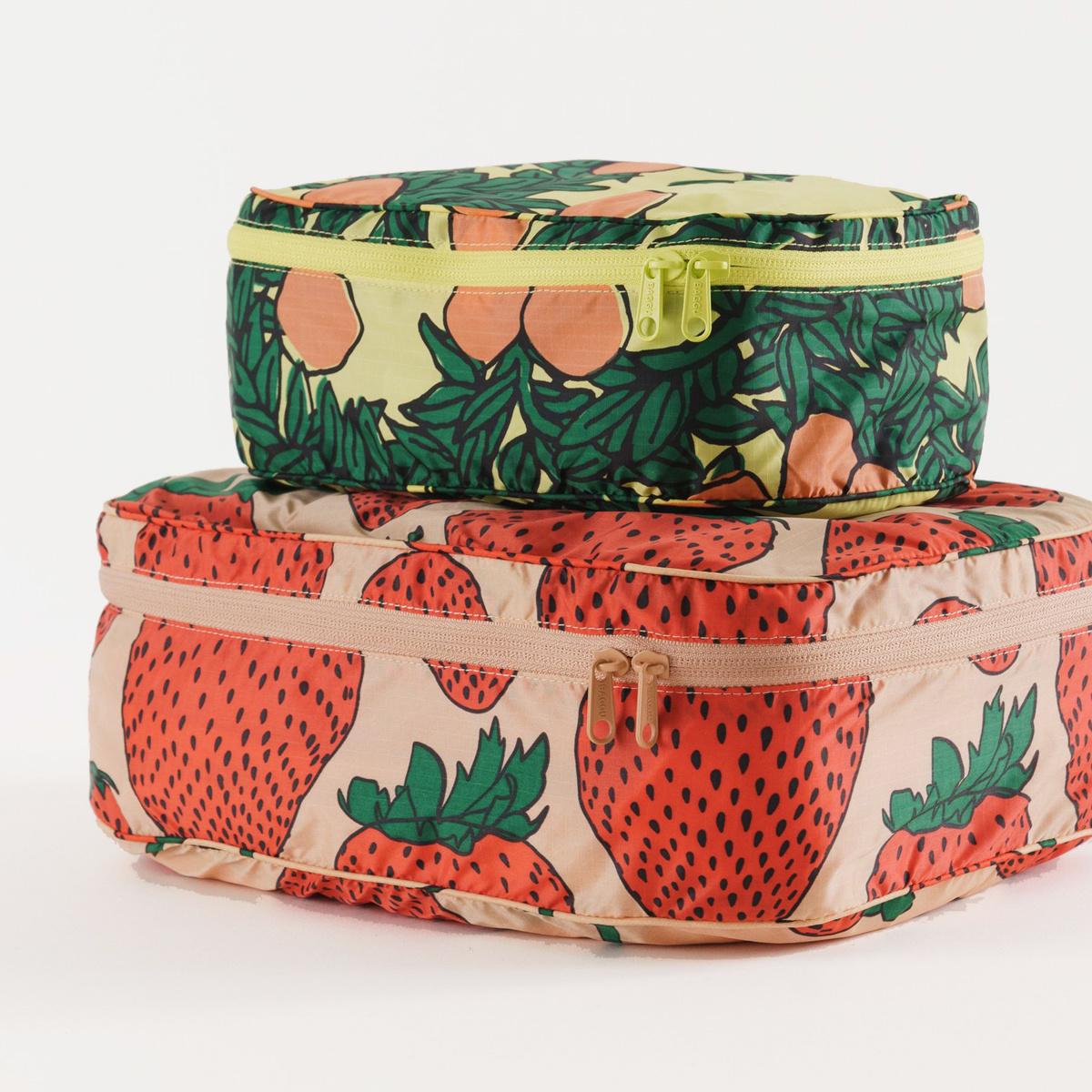 Baggu - BA Baggu - Storage Cube, Set of 2, Backyard Fruit