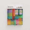 Baggu - BA Baggu - Madras Mix 3D Zip Pouch Set
