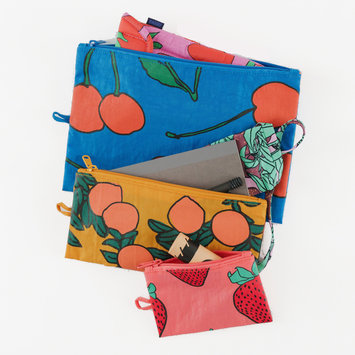 Baggu - BA Baggu - Backyard Fruit Flat Pouch Set of 3