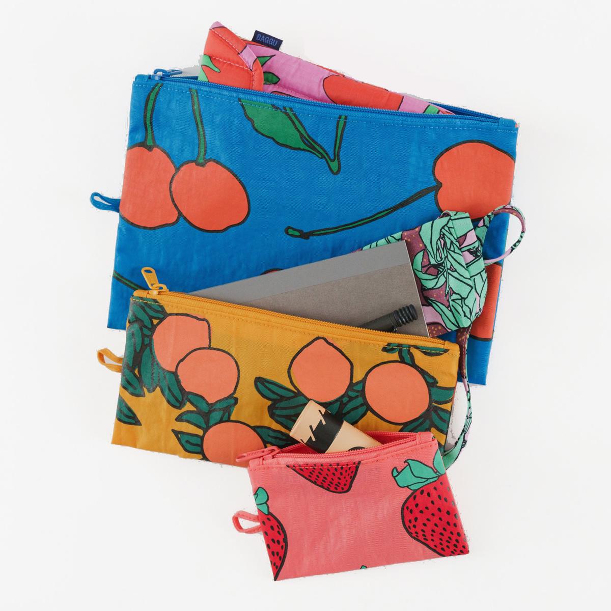 Baggu - BA Baggu - Backyard Fruit Flat Pouch Set of 3