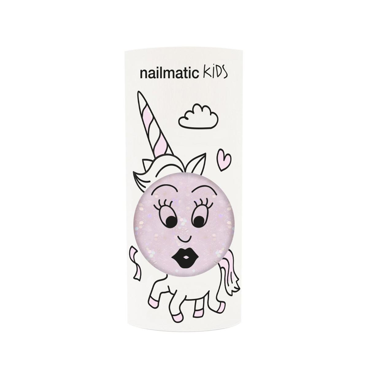 Nailmatic - NAI Nailmatic - Kids Polly Light Pink Glitter Nail Polish
