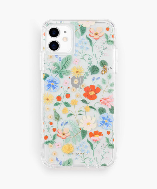 Rifle Paper Co - RP Rifle Paper Co - Clear Strawberry Fields iPhone Case
