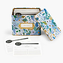 Rifle Paper Co - RP Rifle Paper Co - Garden Party Blue Tin Recipe Box