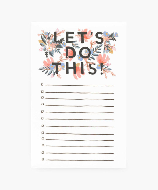 Rifle Paper Co - RP Rifle Paper Co - Lets Do This Note Pad