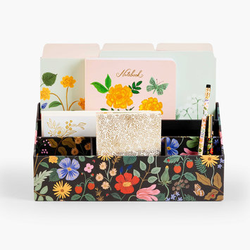 Rifle Paper Co - RP Rifle Paper Co - Strawberry Fields Desk Organzier