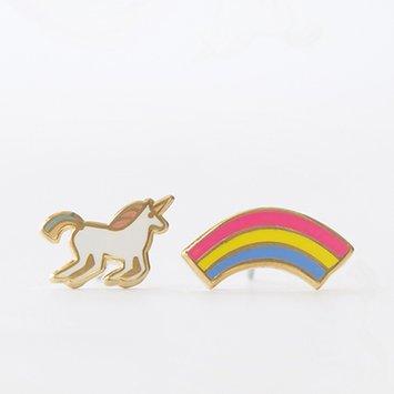 yellow owl workshop YOW JE - Unicorn and Rainbow Earrings