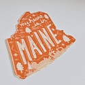 Noteworthy Paper and Press - NPP NPP ST - Maine State Sticker, Red