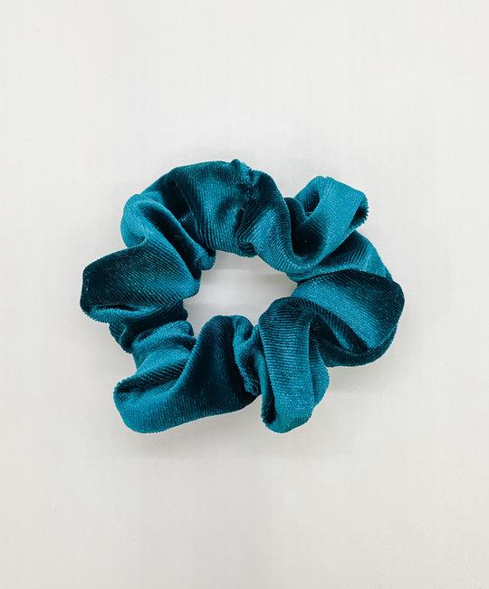Felicity Howells - FH Teal Velvet Hair Scrunchie