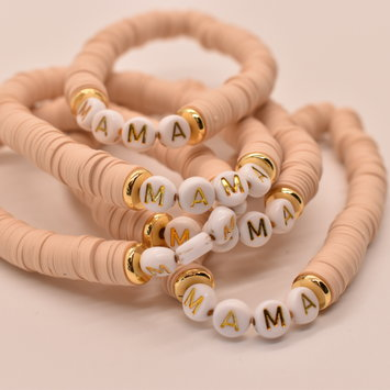 Mod Miss Jewelry - MM MM JEBR - Mama Color Pop Bracelet, Tan, Medium