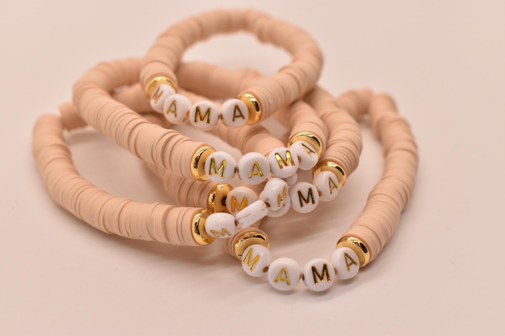Mod Miss Jewelry - MM MM JEBR - Mama Color Pop Bracelet, Tan, Medium