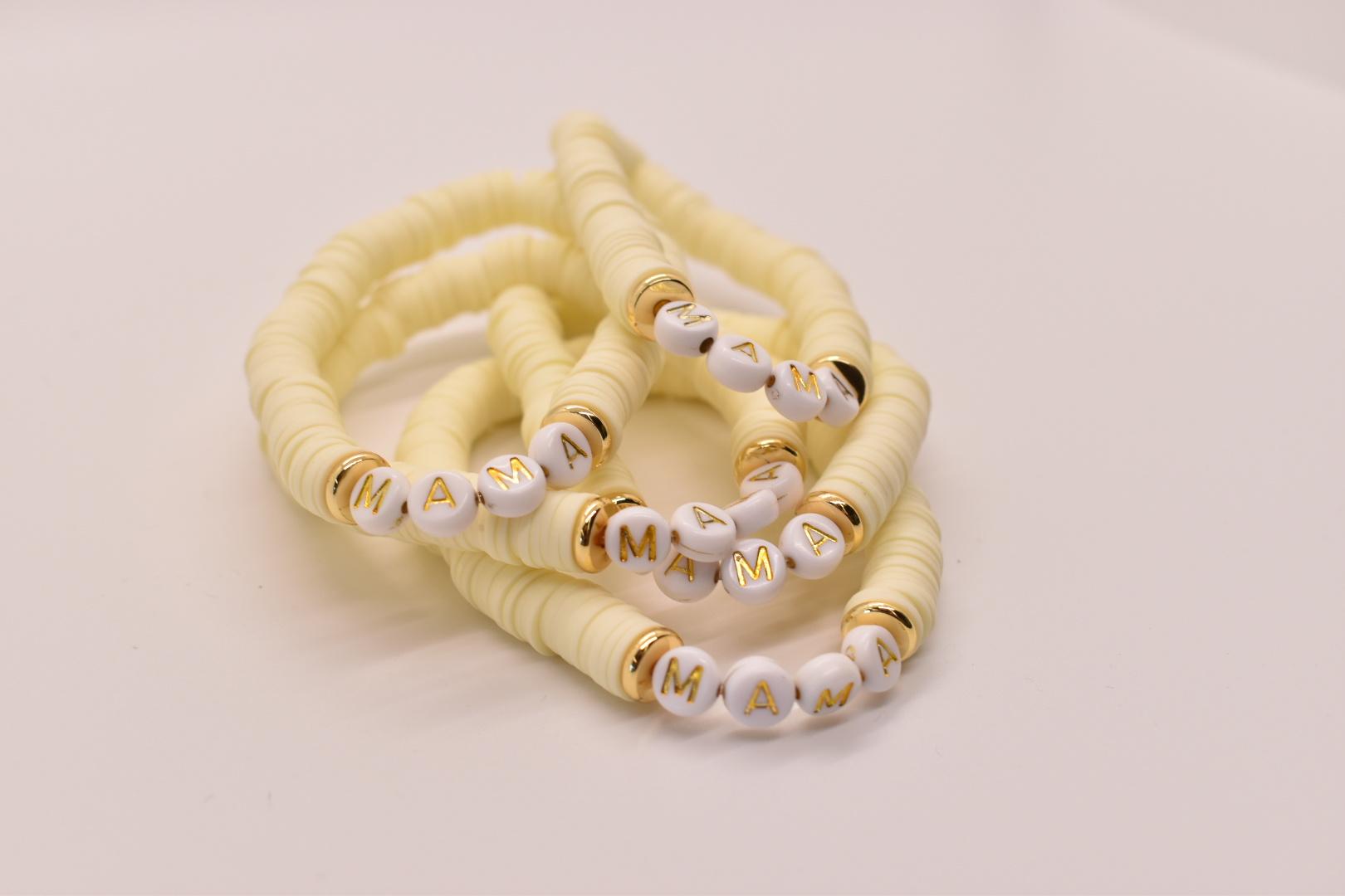 Mod Miss Jewelry - MM MM JEBR - Mama Color Pop Bracelet, Banana Cream, Medium