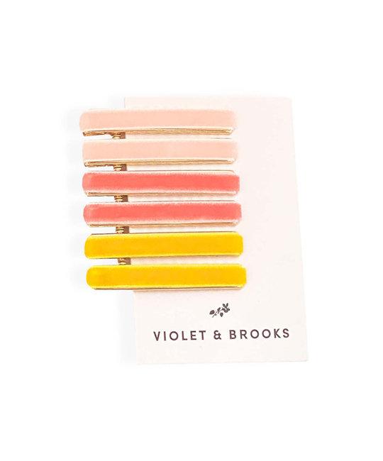 Violet & Brooks - VB Pink Viola Velvet Hair Clips
