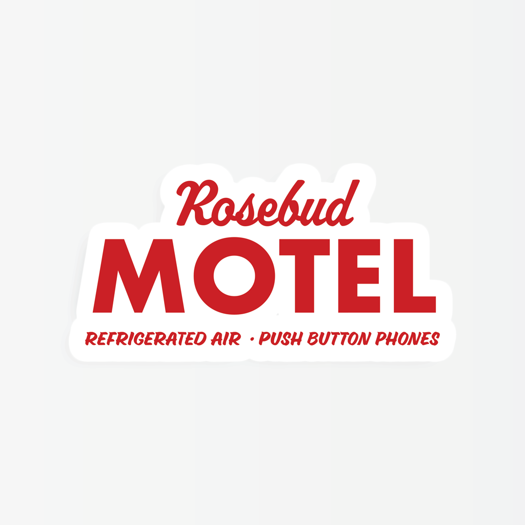 Party Mountain - PM Schitt's Creek Rosebud Motel Sticker