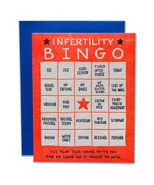 Ladyfingers Letterpress - LF Infertility Bingo