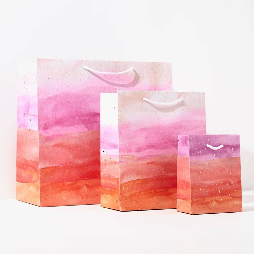 Waste Not Paper - WN WN GBME - Pink Watercolor Medium Bag