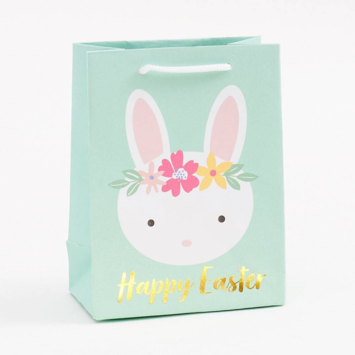 Waste Not Paper - WN WN GBSM - Happy Easter Bunny Heads Small Bag