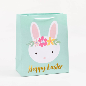 Waste Not Paper - WN WN GBME - Happy Easter Bunny Heads Medium Bag