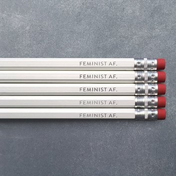 Huckleberry Letterpress - HBL HBL OSPC - Feminist AF Pencil Set