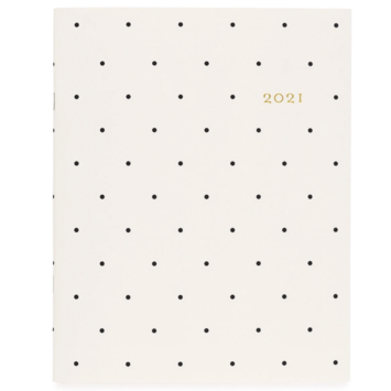 Sugar Paper - SUG SUG AG12 - Monthly Planner, Cream and Black Dot 2021