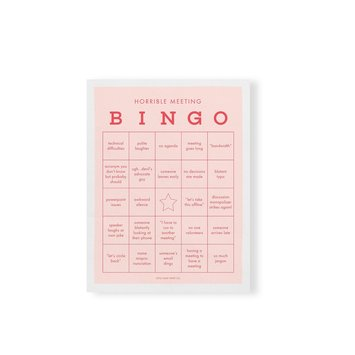 Little Goat Paper Co - LG Horrible Meeting Bingo Notepad