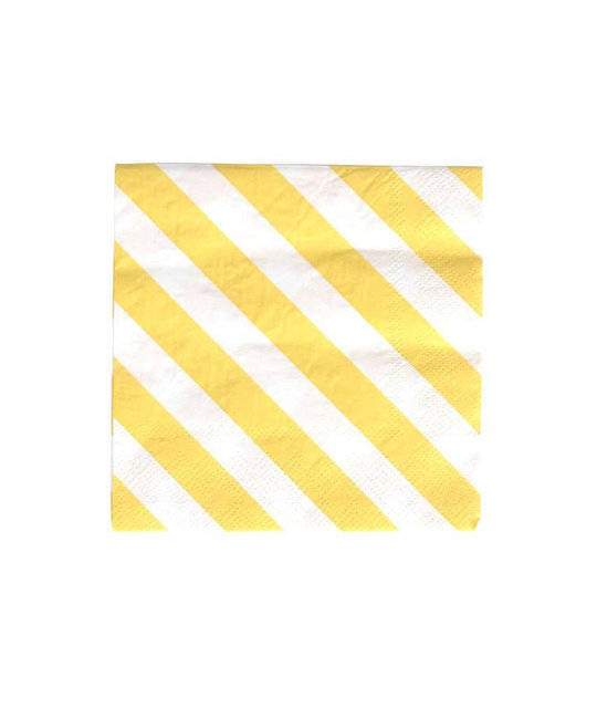 Oh Happy Day Happy Stripe Cocktail Napkins, Set of 20