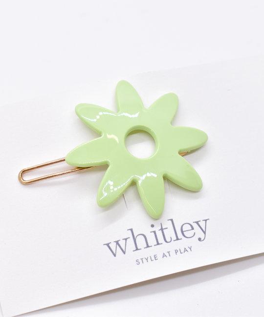 Whitley WH ACHA - Mint Flower Hair Clip