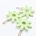 Whitley - WH WH ACHA - Mint Flower Hair Clip