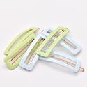 Whitley WH ACHA - Mint + Blue Rectangle Hair Clip Duo