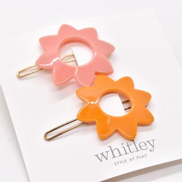 Whitley - WH WH ACHA - Rose + Orange Sun Hair Clip Duo