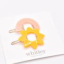 Whitley WH ACHA - Blush Rainbow + Yellow Sun Hair Clip Duo