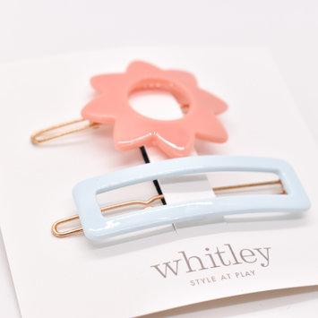Whitley - WH WH ACHA - Rose Sun + Blue Rectangle Hair Clip Duo