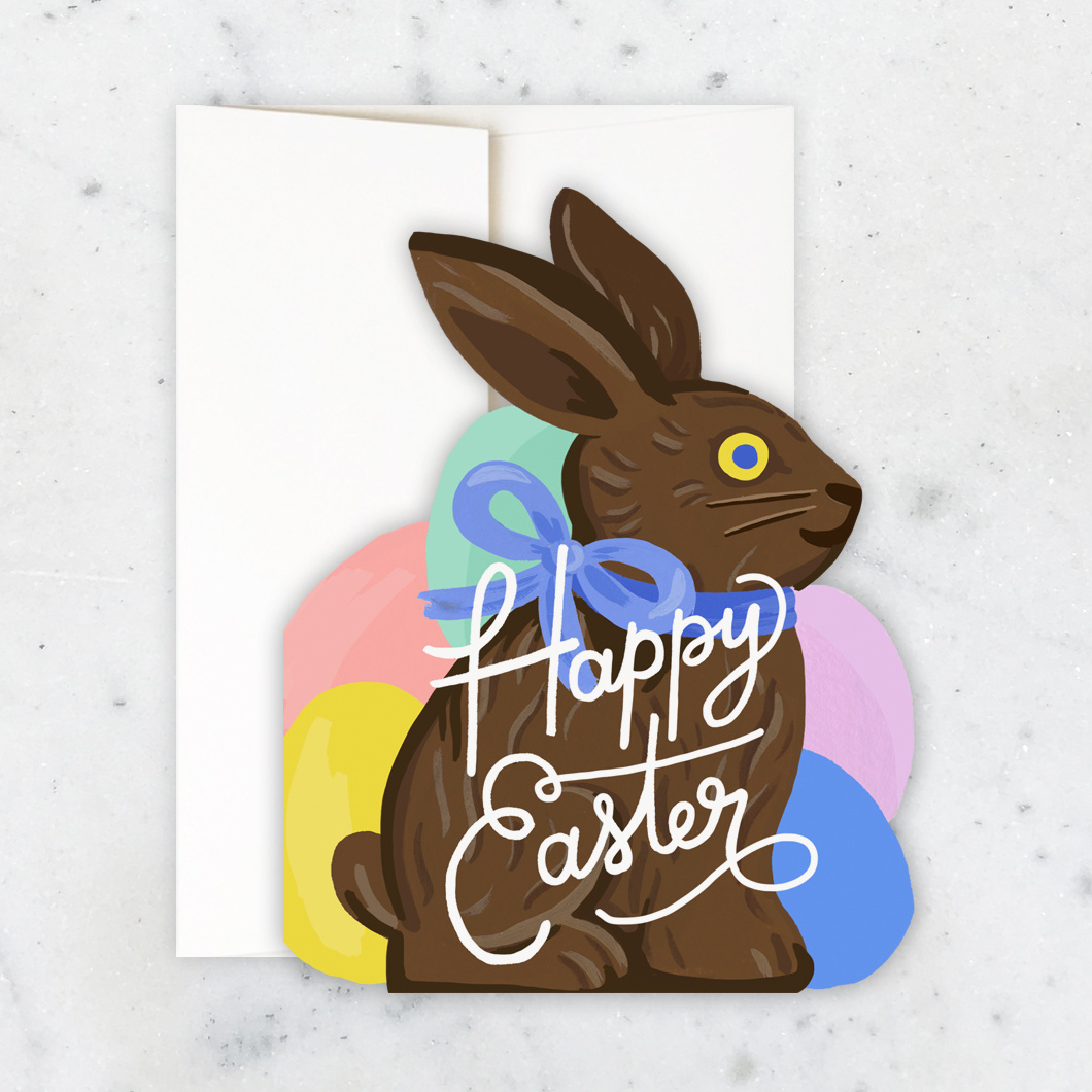 Idlewild Co - ID Bunny Die-cut Happy Easter Card
