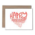 Power and Light Letterpress - PLL Easy Anniversary Card