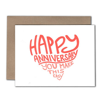 Power and Light Letterpress - PLL Easy Anniversary Card