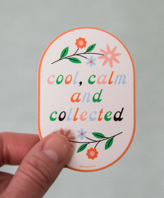 Free Period Press - FPP Cool, Calm, Collected Vinyl Sticker